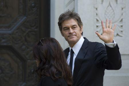 Television personality Dr. Mehmet Oz arrives to attend the funeral of comedienne Joan Rivers at Temple Emanu-El in New York