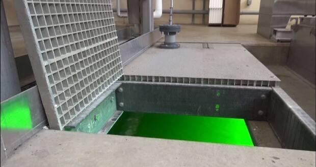 A look at the UV filtering system used at the City of Saskatoon's wastewater treatment plant.