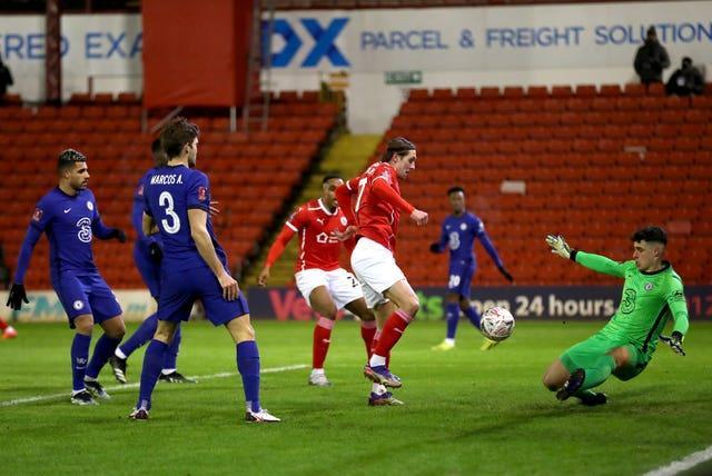 Barnsley gave Chelsea a scare in their fifth-round FA Cup tie at Oakwell in February