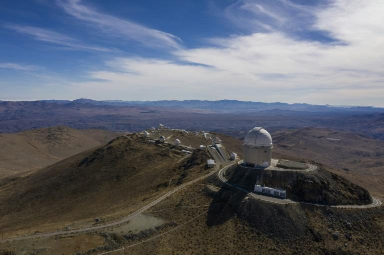 An aerial view of the European Southern Observatory's (ESO) La Silla facility in La Higuera in Chile's Atacama Desert, on June 6, 2019