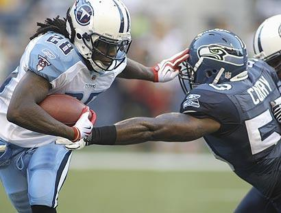 Chris Johnson isn't backing down from his 2,500-yard rushing goal for this season. Eric Dickerson holds the single-season record at 2,105 yards
