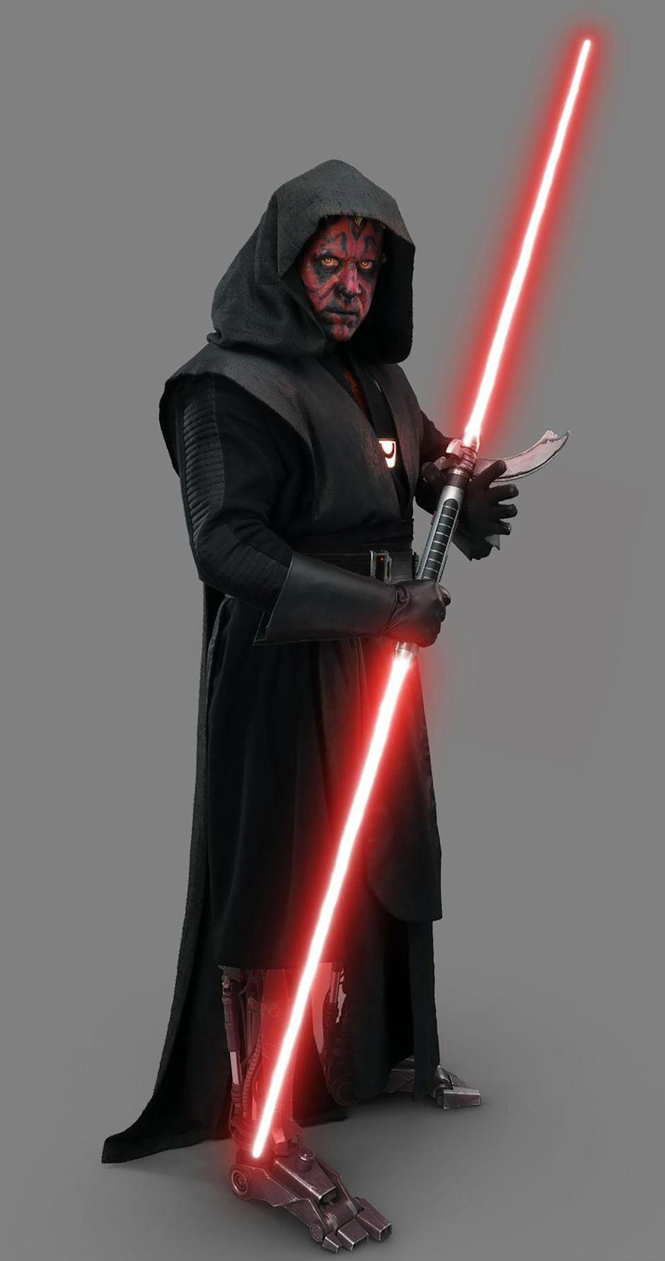 Ray Park as Maul, now with robot legs. (Lucasfilm)