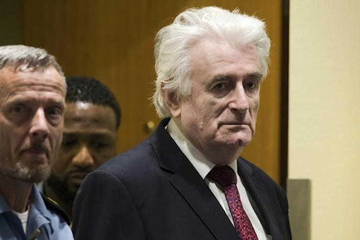 Former Bosnian Serb leader Radovan Karadzic is serving a life sentence for the genocide carried out in Srebrenica and for other war crimes (AFP Photo/Peter Dejong)