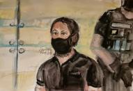 Sketches show Paris' November 2015 attacks suspect during trial at Paris courthouse