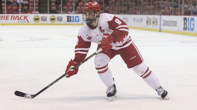 ST. PAUL, Minn. (AP) The Minnesota Wild have agreed to terms on a three-year, entry-level contract with former Wisconsin forward Luke Kunin.
