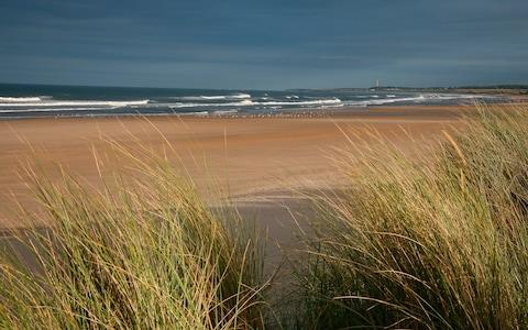 A view from the sand dunes at Druridge Bay - Credit: Roz Gordon Visit Britain