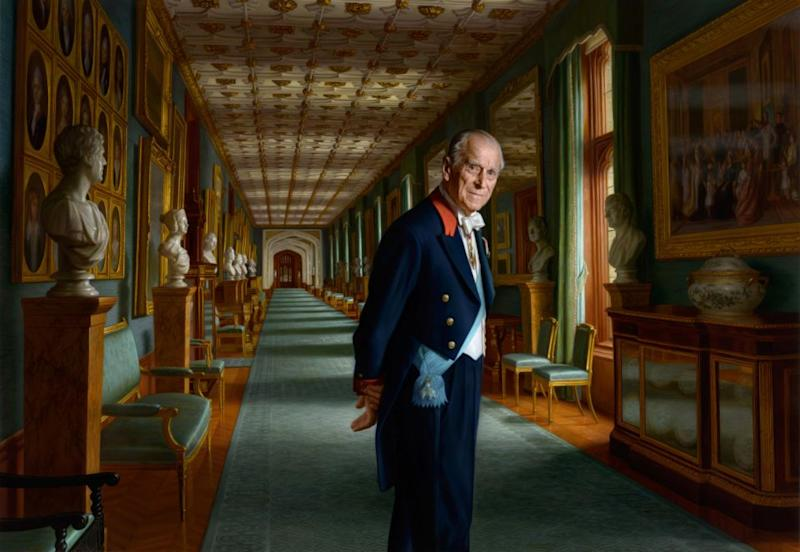 Prince Philip released a new portrait to commemorate his 70th wedding anniversary. Photo: Getty