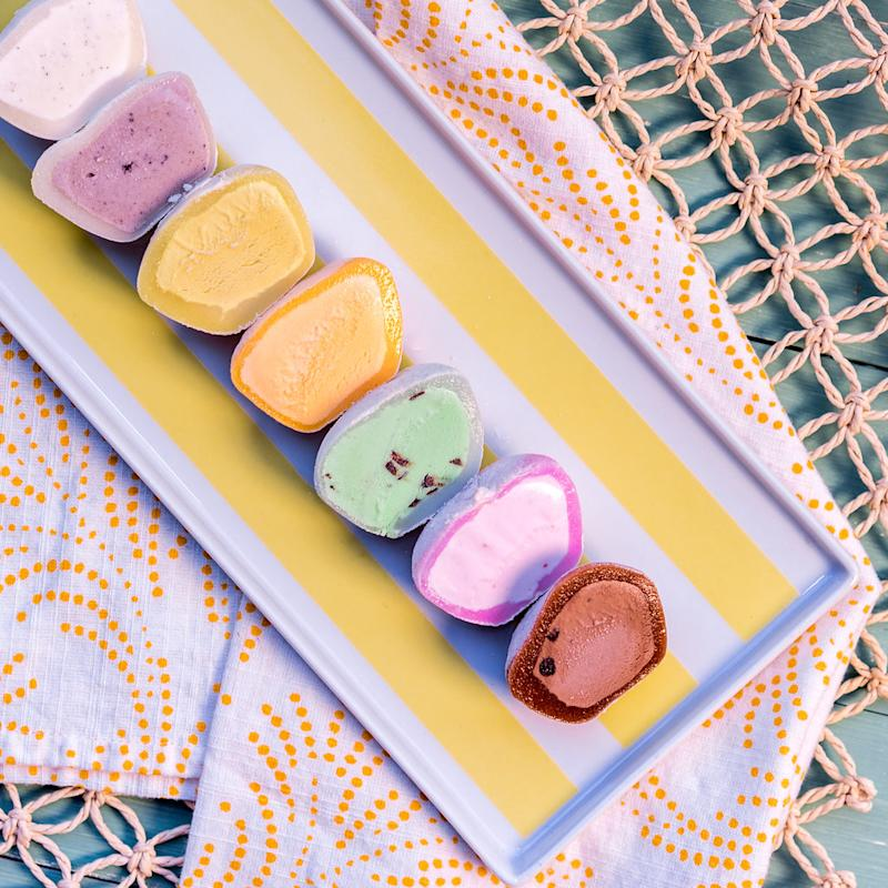 My/Mo mochi ice cream offers flavors that range from cookies and cream to s'mores