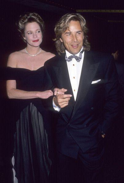 """<p>Melanie Griffith was 14 years old and Don Johnson was 22 when they <a href=""""https://www.instyle.com/news/tbt-melanie-griffith-don-johnson"""" rel=""""nofollow noopener"""" target=""""_blank"""" data-ylk=""""slk:met on the set of The Harrad Experiment"""" class=""""link rapid-noclick-resp"""">met on the set of <em>The Harrad Experiment</em></a>. By her 18th birthday, they were engaged. They eloped in Las Vegas in 1976, but their marriage only lasted six months. After years apart (plus a marriage for Melanie and children for both), they reunited in 1989 and <a href=""""https://apnews.com/article/ddf6bb726d5dc12cfa13a264378f3c61"""" rel=""""nofollow noopener"""" target=""""_blank"""" data-ylk=""""slk:remarried in a small ceremony"""" class=""""link rapid-noclick-resp"""">remarried in a small ceremony</a> in Aspen, Colorado. However, their second marriage didn't last forever, either, and they divorced in 1996.</p>"""