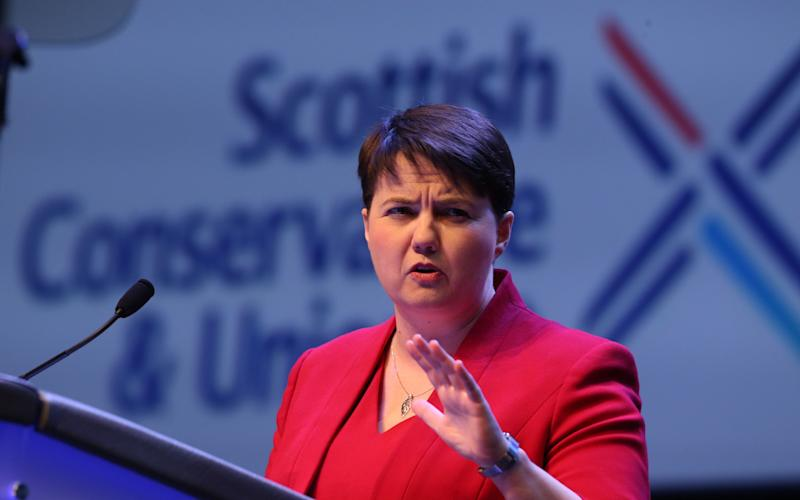 Ruth Davidson has warned Nicola Sturgeon she faces a voter backlash if she demands a second independence referendum - Copyright (c) 2017 Rex Features. No use without permission.