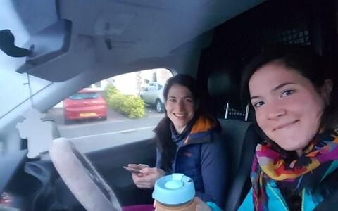 Kirsty and Kerry McPhee have also made a BBC documentary about cycling through rural Scotland - Credit: Twitter