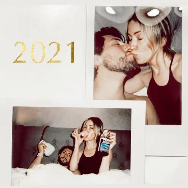 """<p>The <em>Dancing With the Stars </em>champion shared that she and Tartick didn't have quite the ideal New Year's Eve. After <a href=""""https://www.instagram.com/p/CJMKSYFDK1D/"""" rel=""""nofollow noopener"""" target=""""_blank"""" data-ylk=""""slk:announcing last week"""" class=""""link rapid-noclick-resp"""">announcing last week</a> that she and her boyfriend had coronavirus, Bristowe <a href=""""https://www.instagram.com/p/CJfJ2YBjqzm/"""" rel=""""nofollow noopener"""" target=""""_blank"""" data-ylk=""""slk:shared,"""" class=""""link rapid-noclick-resp"""">shared,</a> """"Ringing in the new year at 9:15 with shots of NyQuil, and an ice pack. Goodnight. See ya in 2021.""""</p>"""