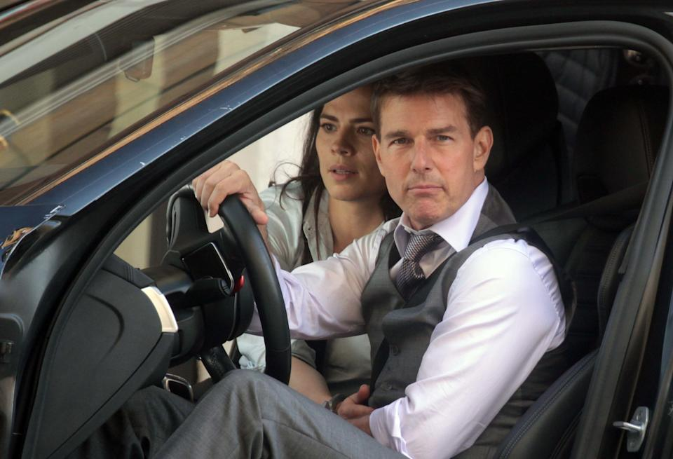 Tom Cruise is seen on set of Mission: Impossible 7 in Rome, Italy on October 9, 2020. (Photo by Max Botta/Sipa USA)