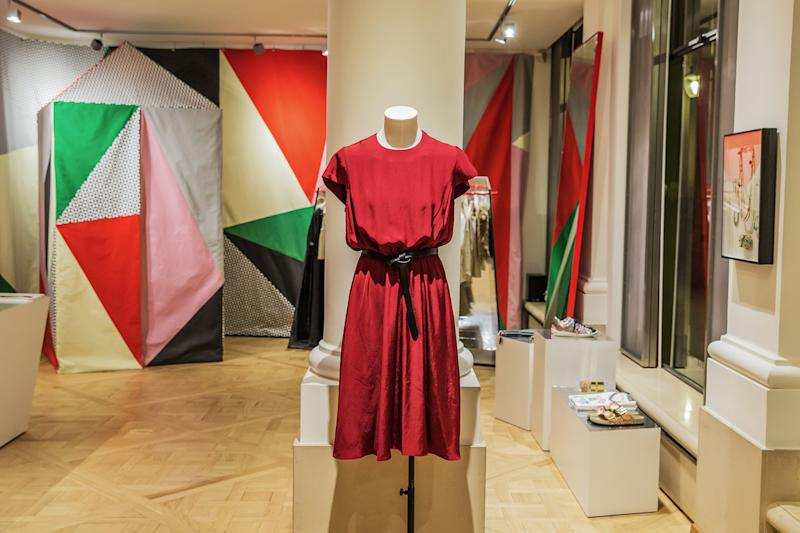 Isabel Marant pieces on display at Galerie Joyce
