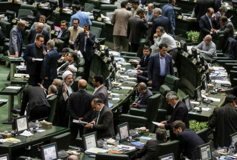 Iranian lawmakers during a parliamentary session in the capital Tehran on August 26, 2018