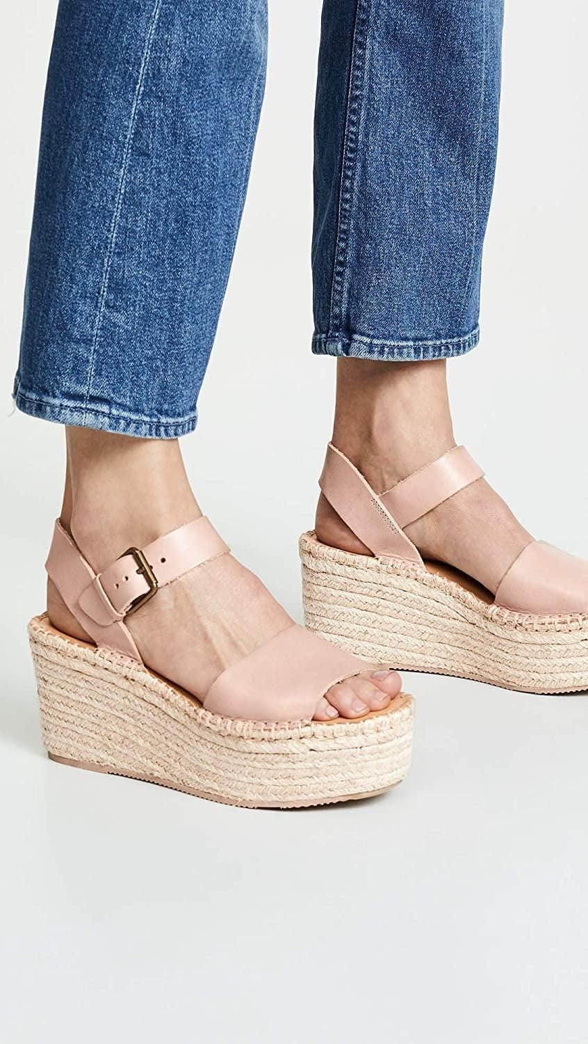 <p>If you don't shy away from a bit of height, go for these dressier <span>Soludos Minorca High Platform Sandals</span> ($30 - $127).</p>