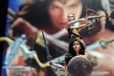 Mattel's Wonder Woman doll is seen at the 114th North American International Toy Fair in New York City