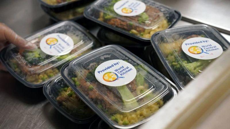 Meals being prepared for health care workers in NYC, May 2020