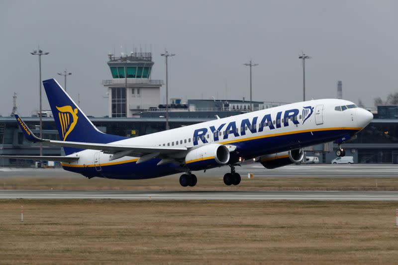 Ryanair reports full-year profit up 13%, cuts traffic for coming year