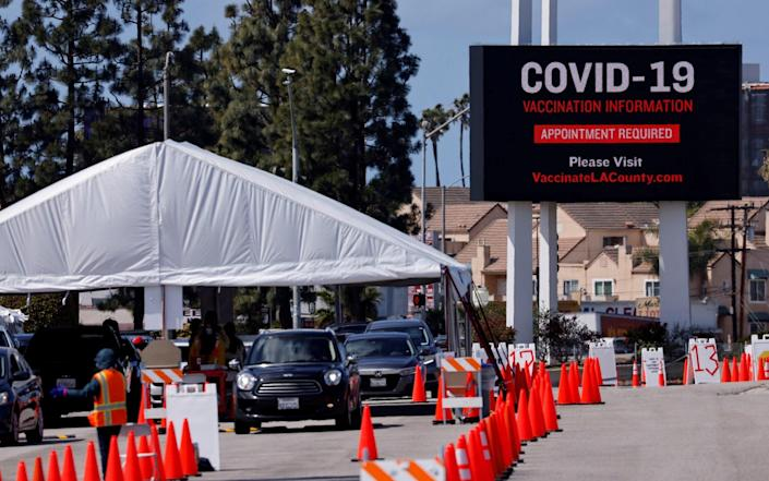 Vaccination center in Los Angeles, California - Mike Blake/REUTERS