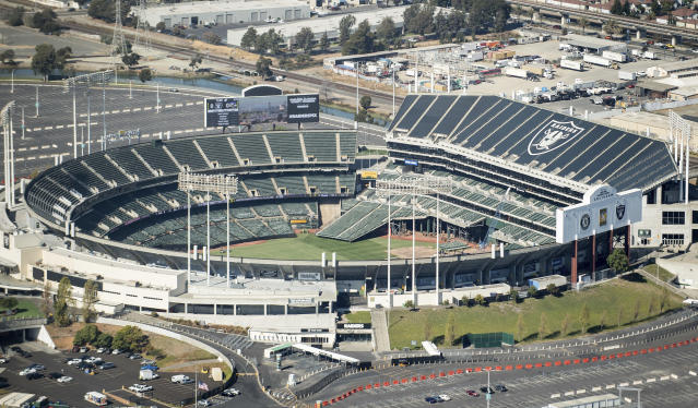 Oakland-Alameda County Coliseum has had more than its fair share of problems over the years. (AP Photo/Noah Berger)