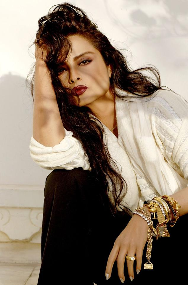 <em>Rekha</em>: Once panned for her plump body and dark skin-tone, which was a far cry from conventional heroines of her time, the actor who has gone on to win multiple awards for her performing prowess has defied age in her career spanning four decades in the Indian film industry. From a wrinkleless face, to beautifully made-up eyes and statement Kanjeevaram sarees, Rekha still manages to leave everyone mesmerised during her appearances. (Image: Instagram)