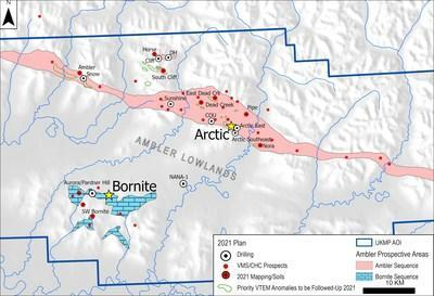 Figure 2. Drilling Locations within the UKMP (CNW Group/Trilogy Metals Inc.)