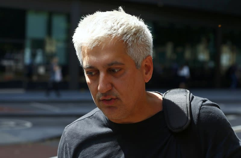 Former Barclays trader Jay Merchant arrives for sentencing at Southwark Crown Court in London