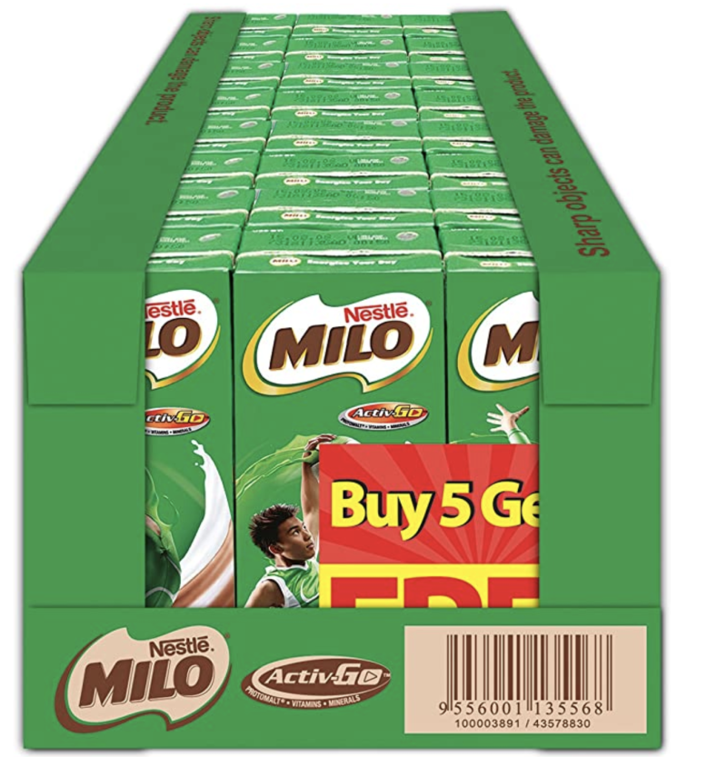 Milo UHT Chocolate Malt Packet Drink. (PHOTO: Amazon)