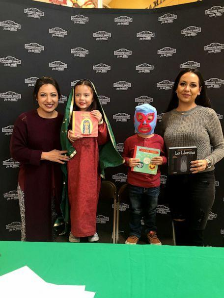 PHOTO: Lil' Libros, founded by Ariana Stein, left, and Patty Rodriguez, right, say that a lack of bilingual literature was a problem for mothers like themselves who wanted to celebrate their mixed Latinx and American identities. (Cynthia Gonzalez/Lil' Libros)