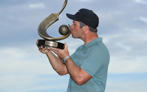 Paul Casey of England poses with the Valspar Championship trophy after winning at Innisbrook Resort Copperhead Course on March 11, 2018 in Palm Harbor, Florida - Credit:  Getty Images