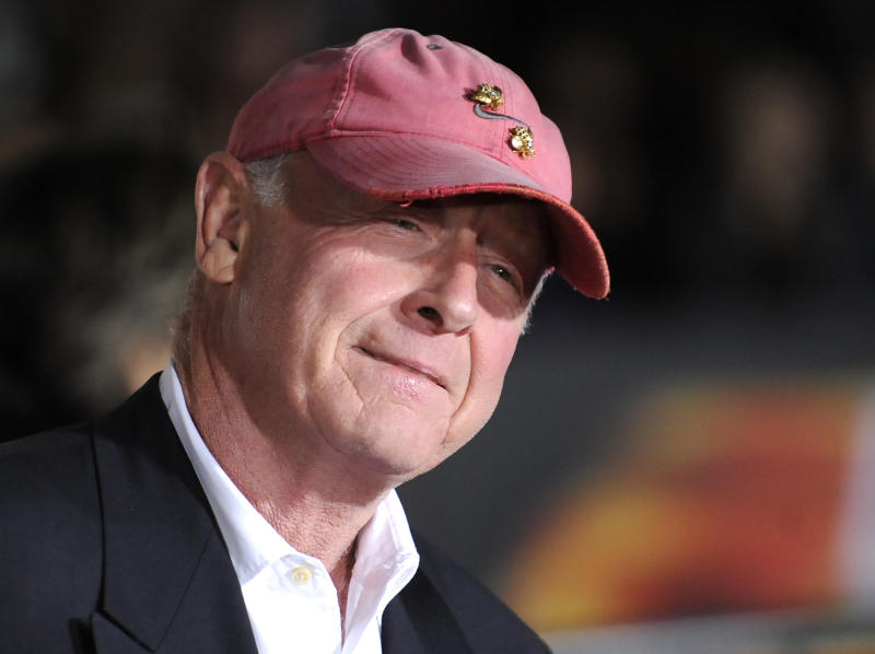 """FILE - In this Oct. 26, 2010 file photo, director Tony Scott arrives at the premiere of """"Unstoppable"""" in Los Angeles. Authorities say Scott died after jumping of a bridge in Los Angeles on Sunday, Aug. 19, 2012. (AP Photo/Gus Ruelas, File)"""