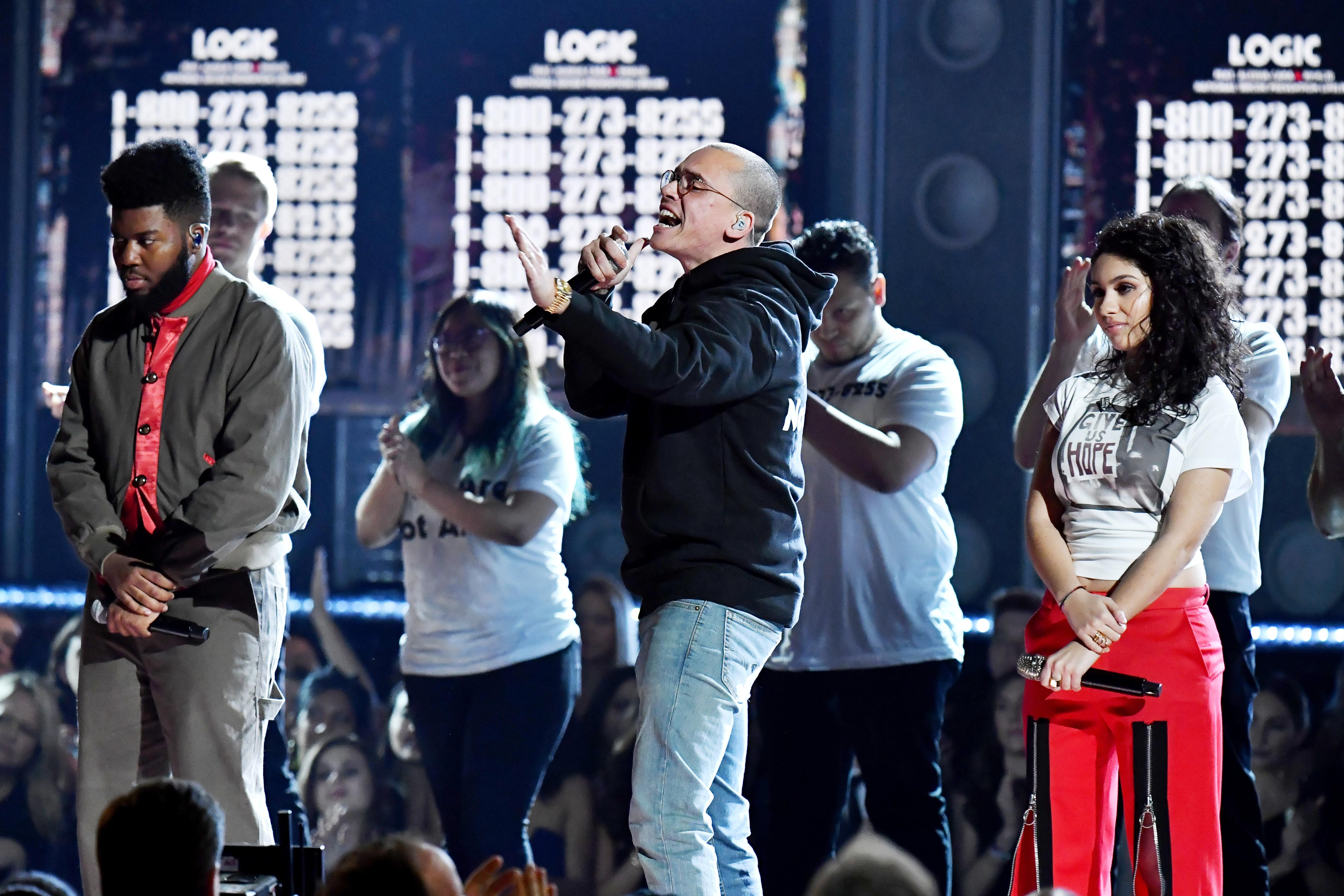 Logic reveals he's biracial and slams Trump's hateful words at Grammys