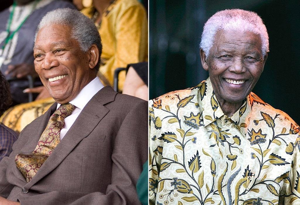 """Movie: """"<a href=""""http://movies.yahoo.com/movie/1810073710/info"""">Invictus</a>"""" Nelson Mandela has been friends with Freeman for years and has publicly stated that he is the only person who could portray him on the silver screen."""