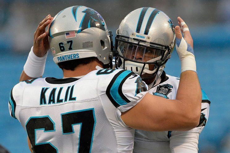 Ryan Kalil and Cam Newton, friends 4-ever. (Getty)