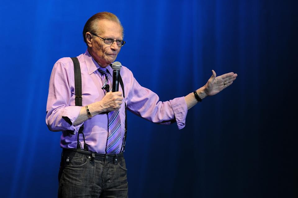 Larry King, who died on Jan. 23, 2020, is remembered by his Hollywood peers. (Photo: Larry Marano/Getty Images)