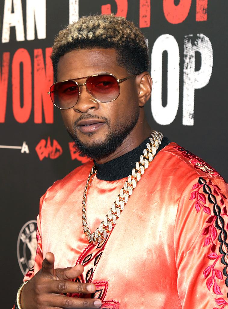 Usher attends the L.A.premiere of