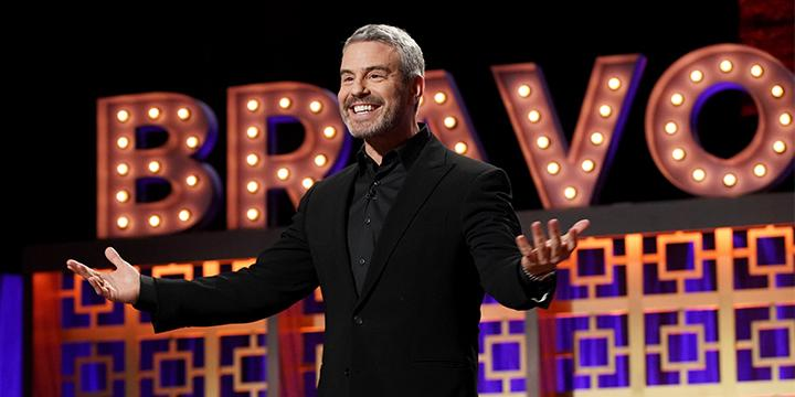 Andy Cohen kicks off the largest taping of WWHL! at the inaugural BravoCon. (Photo: Karlolina Wojtasik/Bravo/NBCU Photo Bank via Getty Images)