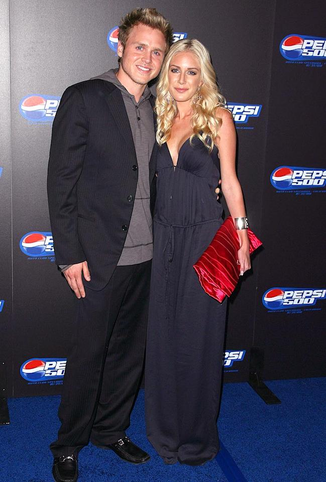 "Spencer Pratt and Heidi Montag hit up yet another red carpet - this time at the Pepsi 500 Wide Open event in Los Angeles. Jordan Strauss/<a href=""http://www.wireimage.com"" target=""new"">WireImage.com</a> - August 27, 2008"