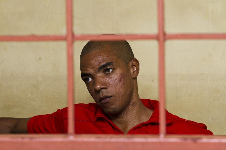 Briton Jermaine Grant appears in the Shanzu Law Court in Mombasa, Kenya on February 17, 2014 (AFP Photo/Ivan Lieman)