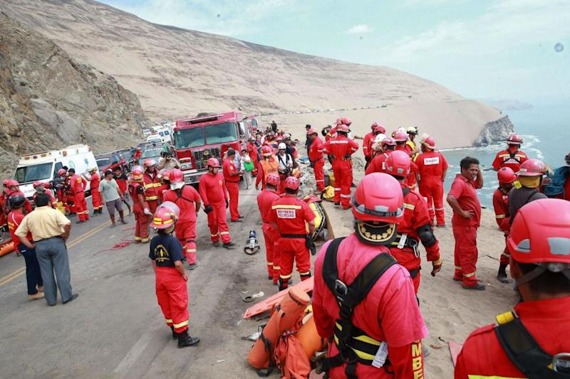 The bus was travelling on a notorious stretch of narrow road known as 'devil's curve' (AFP/Getty Images)