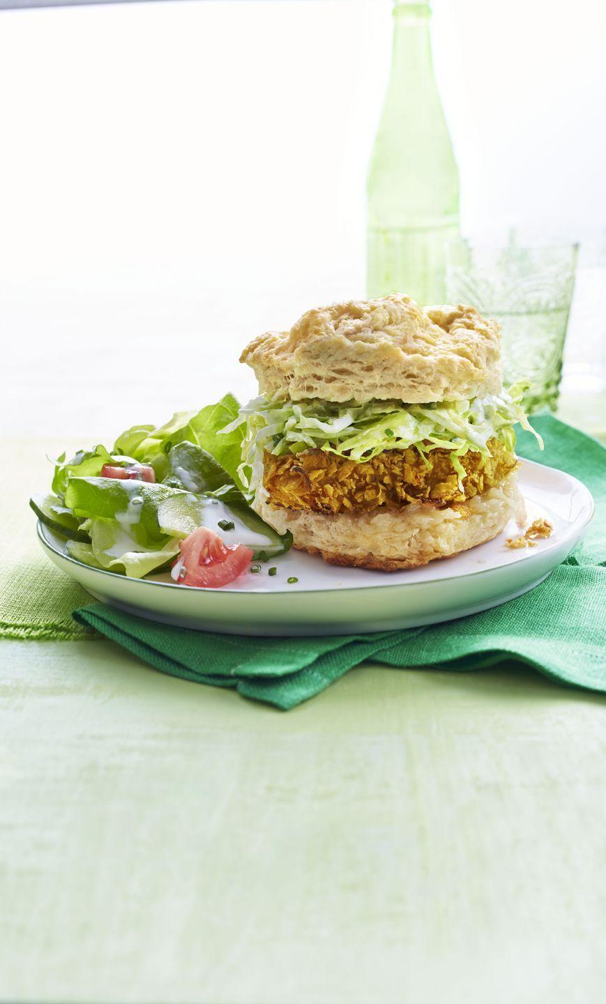 """<p>Baking this crunchy, crowd-pleasing favorite makes it much healthier and lower in fat than a traditional fried chicken recipe.</p><p><em><a href=""""https://www.goodhousekeeping.com/food-recipes/a14849/crispy-baked-chicken-recipe-wdy0315/"""" rel=""""nofollow noopener"""" target=""""_blank"""" data-ylk=""""slk:Get the recipe for Crispy Baked Chicken »"""" class=""""link rapid-noclick-resp"""">Get the recipe for Crispy Baked Chicken »</a></em></p>"""
