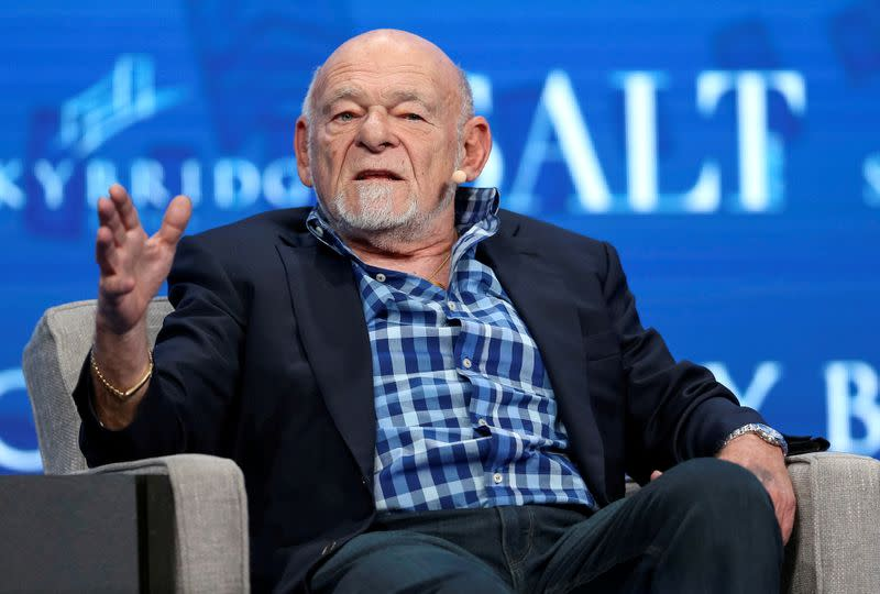 FILE PHOTO: Sam Zell, founder and chairman at Equity Group Investments, speaks during the SALT conference in Las Vegas