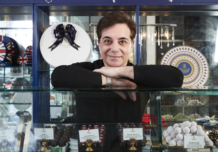 Adam Lees Chief Chocolatier at royal chocolate maker Charbonnel and Walker. (ITV)