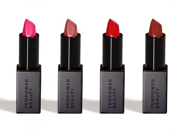 PHOTO: Try these long-lasting lipsticks to take you from mistletoe to NYE kiss. (Fempower)