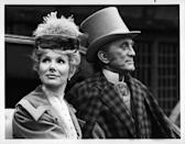 <p>Douglas on set of <em>Dr. Jekyll and Mr. Hyde</em> with his costar Susan Hampshire. </p>