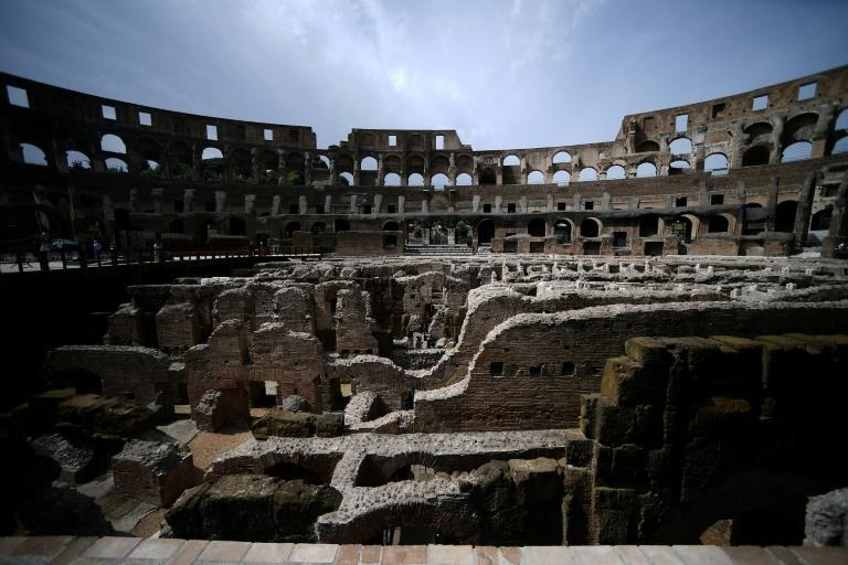 The subterranean ruins of ancient Rome's most famous amphitheatre, the Colisseum, are being opened to the public after painstaking restoration