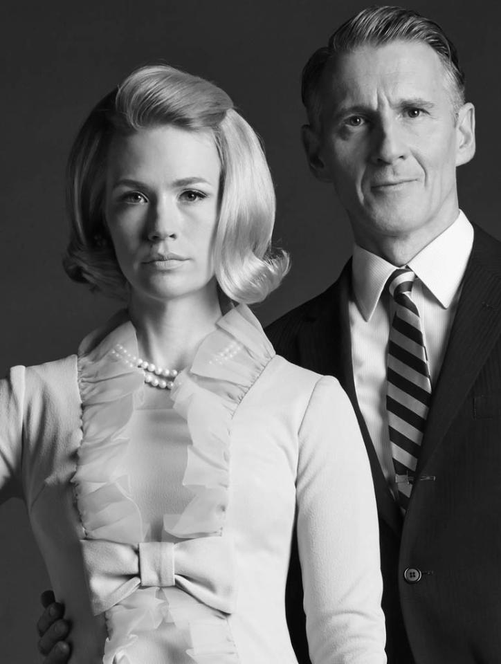 Betty Francis (January Jones) and Henry Francis (Christopher Stanley) - Mad Men - Season 6