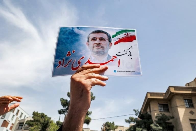 Populist, firebrand former president Mahmoud Ahmadinejad was barred from running in the election