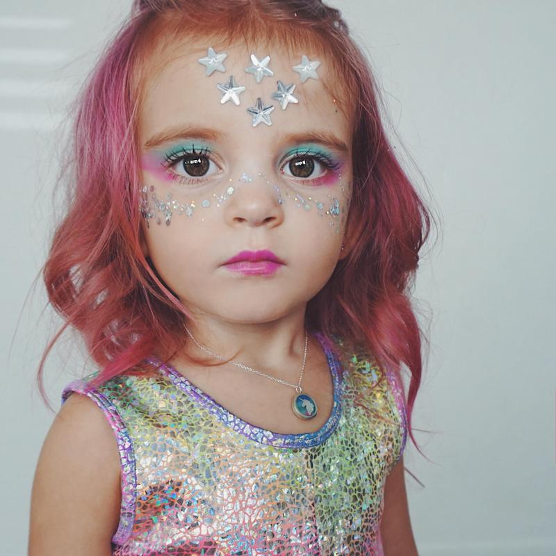 Makeup artist and beauty blogger Charity Grace LeBlanc is facing criticism over her 3-year-old daughter's pink hair. (Photo courtesy of Charity Grace LeBlanc)